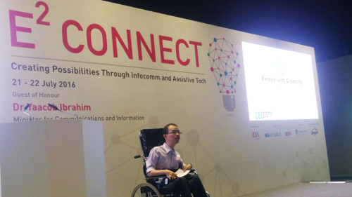Boon Keng Presenting on Employment for Disabled at E2 Connect