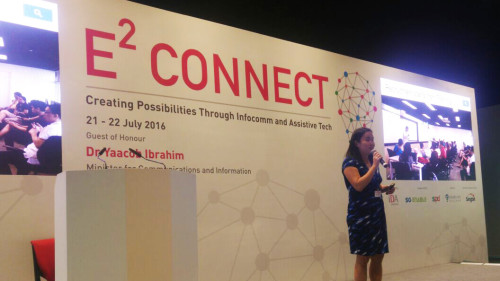 Jing Yan Presenting at E2 Connect Conference